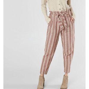 En Creme Paperbag Pants